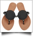 The Coral Palms� EasyStitch Medallion Sandals - BLACK