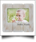 White Distressed Wood Picture Frame - CLOSEOUT