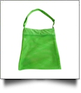 Sea Shell & Pool Toy Mesh Tote With Adjustable Strap - LIME