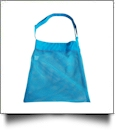 Sea Shell & Pool Toy Mesh Tote With Adjustable Strap - AQUA