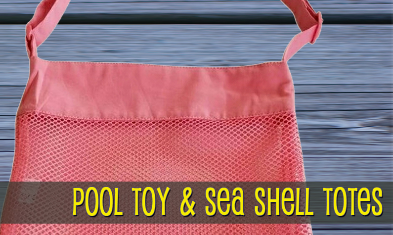 Pool Toy & Sea Shell Totes