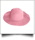 Kid's Wide Brim Floppy Hat Embroidery Blanks - LIGHT PINK - CLOSEOUT