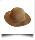 Kid's Wide Brim Floppy Hat Embroidery Blanks - BROWN - CLOSEOUT