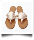 The Coral Palms� EasyStitch Medallion Sandals - ROSE GOLD