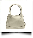 Luxurious Shell Faux Leather Handbag Purse - CREAM