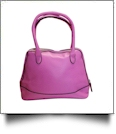 Luxurious Shell Faux Leather Handbag Purse - PINK