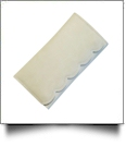 Scalloped Faux Leather Tri-Fold Wallet Embroidery Blank - CREAM