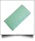 Scalloped Faux Leather Tri-Fold Wallet Embroidery Blank - MINT