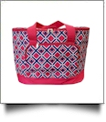 Times Square Print Insulated Cooler Tote Bag Embroidery Blanks - RED TRIM