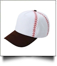Baseball Structured 6 Panel Baseball Hat - DARK BROWN - CLOSEOUT