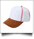 Baseball Structured 6 Panel Baseball Hat - LIGHT BROWN - CLOSEOUT