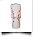 30oz Double Wall Stainless Steel Super Tumbler - BASEBALL