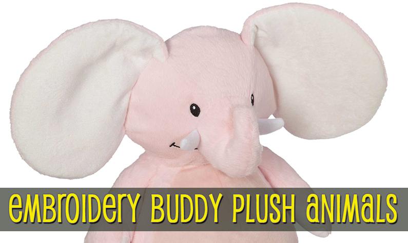Embroidery Buddy Stuffed Animals