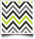 Chevron Print QuickStitch Embroidery Paper - One 8.5in x 11in Sheet - GRAY/LIME - CLOSEOUT