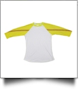 The Coral Palms™ Sports Raglan Shirt - SOFTBALL/WHITE