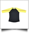 The Coral Palms™ Sports Raglan Shirt - SOFTBALL/BLACK