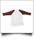 The Coral Palms™ Sports Raglan Shirt - FOOTBALL/WHITE