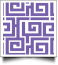 Greek Key Print QuickStitch Embroidery Paper - One 8.5in x 11in Sheet - PURPLE- CLOSEOUT
