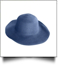Kid's Wide Brim Floppy Hat Embroidery Blanks - NAVY - CLOSEOUT