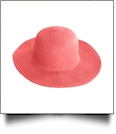 Kid's Wide Brim Floppy Hat Embroidery Blanks - CORAL