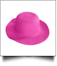 Kid's Wide Brim Floppy Hat Embroidery Blanks - HOT PINK