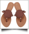 The Coral Palms� EasyStitch Medallion Sandals - BROWN