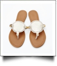 The Coral Palms� EasyStitch Medallion Sandals - CHAMPAGNE GOLD