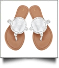 The Coral Palms� EasyStitch Medallion Sandals - SILVER