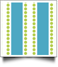 Dotty Stripe Print QuickStitch Embroidery Paper - One 8.5in x 11in Sheet