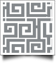 Greek Key Print QuickStitch Embroidery Paper - One 8.5in x 11in Sheet - GRAY- CLOSEOUT