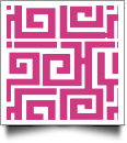 Greek Key Print QuickStitch Embroidery Paper - One 8.5in x 11in Sheet - HOT PINK