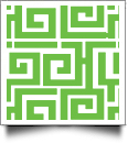 Greek Key Print QuickStitch Embroidery Paper - One 8.5in x 11in Sheet - LIME- CLOSEOUT