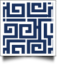 Greek Key Print QuickStitch Embroidery Paper - One 8.5in x 11in Sheet - NAVY- CLOSEOUT