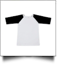 The Coral Palms™ Toddler Raglan Baseball Shirt - BLACK