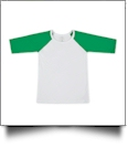 The Coral Palms™ Toddler Raglan Baseball Shirt - GREEN