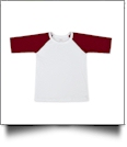 The Coral Palms™ Toddler Raglan Baseball Shirt - MAROON