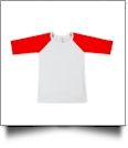 The Coral Palms Toddler Raglan Baseball Shirt - RED