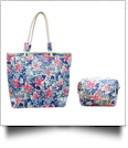 The Floridian Series Beach Tote & Cosmetic Bag Travel Set - STAR FISH - CLOSEOUT