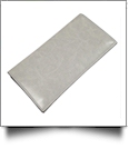 Luxurious Square Cornered Faux Leather Tri-Fold Wallet Embroidery Blank - LIGHT GRAY