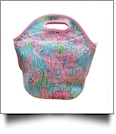 The Floridian Series Neoprene Lunch Tote - PASTEL CORAL