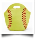 Softball Print Neoprene Lunch Tote