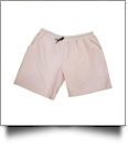 The Coral Palms Mens Seersucker Swimming Trunks - PINK