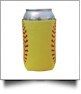 Softball Print 12oz Neoprene Can Coolie