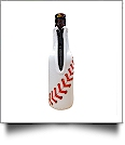 Baseball 12oz Long Neck Zipper Neoprene Bottle Coolie