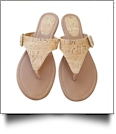EasyStitch Monogrammable T-Strap Sandals - CORK