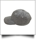 The Coral Palms® Gingham Unstructured 6 Panel Baseball Hat - BLACK