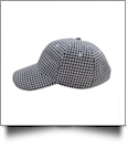 The Coral Palms™ Gingham Unstructured 6 Panel Baseball Hat - NAVY