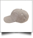 The Coral Palms® Gingham Unstructured 6 Panel Baseball Hat - COCOA