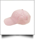 The Coral Palms® Gingham Unstructured 6 Panel Baseball Hat - PINK