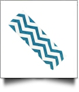 The Coral Palms™ Stretch Headband in Chevron Print - AQUA/WHITE - CLOSEOUT